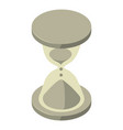 loading hourglass cursor icon isometric style vector image