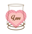 love decor card cute heat vector image vector image
