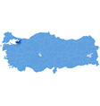 Map of Turkey Yalova vector image vector image