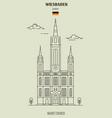 market church in wiesbaden vector image vector image