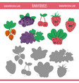 matching game with berries for preschool children vector image vector image