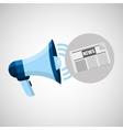 megaphone concept news paper design vector image vector image
