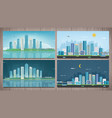modern city landscape building and architecture vector image vector image