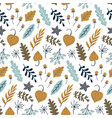 modern seamless floral pattern autumn leaves vector image