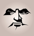 Monochromatic stencil mask black face features on vector image vector image