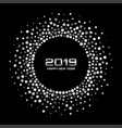 new year 2019 card background confetti circle vector image vector image