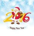 New Year greeting card with Santa Claus vector image vector image