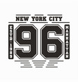 new york manhattan typography t-shirt graphics vector image vector image