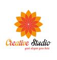 Orange media logo template vector image vector image