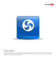 propeller fan icon - 3d blue button vector image