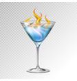 realistic cocktail sambuka glass vector image vector image