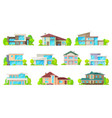 residential real estate private houses buildings vector image vector image