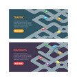 road banner horizontal set isometric view vector image vector image