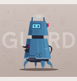robot character technology future vector image vector image