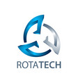 rotate technology logo concept design three vector image vector image