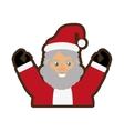 santa claus christmas character icon vector image vector image