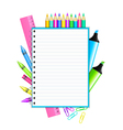 school supplies frame vector image vector image