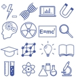 Science and Education Flat Line Icons vector image