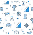 seamless pattern with business management icons vector image vector image