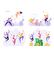 set business people celebrate success drinking vector image vector image