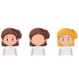 set of girl different hairstyle vector image vector image