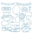 Set of ribbons and elements for party invitation vector image vector image