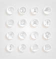 shadows button camera icons set vector image vector image