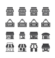 shop building icon set vector image vector image