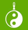 sign yin yang icon green vector image vector image