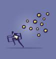 social network marketing or social media vector image vector image