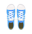 sports shoes gym shoes keds blue colors for vector image