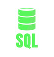 sql database icon logo design ui or ux app vector image