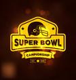 super bowl championship logo sport vector image