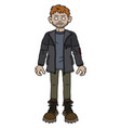 the funny redhead adventure man vector image vector image