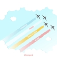 Travel Plane Country Design Tourism Europe Culture vector image vector image