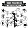Tree infographic simple style vector image vector image