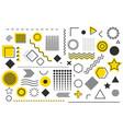 trendy geometric shape template background minima vector image vector image