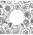 vintage seafood frame vector image