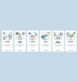 web site onboarding screens drinks menu in bar or vector image