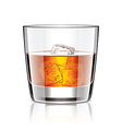 object whiskey with ice vector image