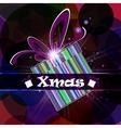 Festive card gift box vector image