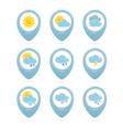Weather web elements vector image