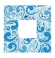 Abstract ornate frame for background vector image