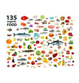 135 organic products vector image vector image