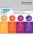 abstract business infographics template with 4
