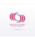 abstract curvy logo design vector image