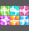 Abstract liquid design set posters template