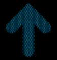 arrow up mosaic icon of halftone circles vector image vector image