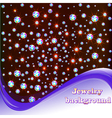 background with shiny precious stones vector image vector image