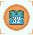 basketball players shirt color icon vector image vector image